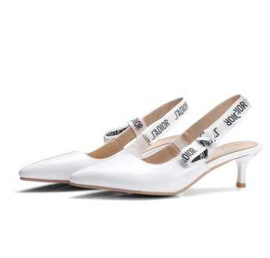 daeaa0bfe ... Ladies Brand Shoes Back strap Lace-knot Pointed Toe Sandals Pumps  Zapatos Black White Pink ...