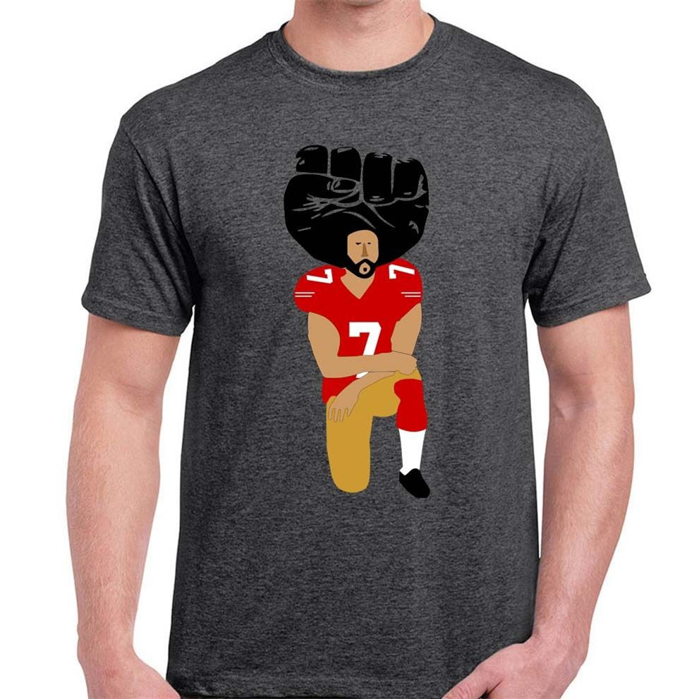 20a78d54 United We Stand Colin Kaepernick Kneeling in Silent Protest T Shirts Men's  Tees big sizeS-XXXL