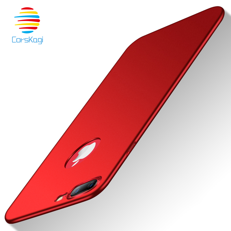 Case Slim Matte For iPhone X XS Max XR 7 8 Plus 6 6s Plus Hard Full PC Back Case Phone Ultra Thin Cover ForiPhone X iX 7 7Plus