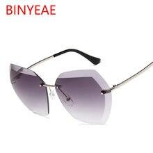 1d34581e0 Semi rimless Gafas de sol mujeres marca diseñador ojo Gafas gran tamaño Sol  Gafas transparente Rosa hombres Gafas de sol oculos .