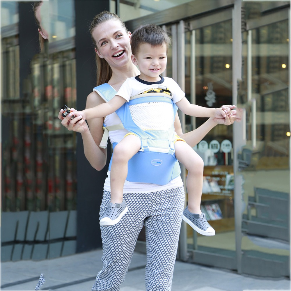 baby carrier hipseat portable economic multifunctional breathable cotton sling wrap front backpack newborn carriage toddler baby hipseat four seasons breathable baby shoulder carrier cotton baby carrier infant backpack for kids toddler sling md bd08