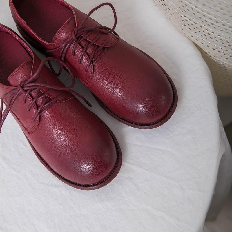 Épais Naturel Talon 2019 Cuir Chaussures Noir Femmes Woamn blanc Hauts Printemps Nouvelle Mode Filles Talons Loisirs Véritable En rouge Allbitefo À q4wpOw