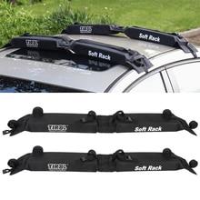 Автомобильный мягкий багажник на крышу, автомобильный уличный багаж на крыше, 60 кг, багаж для SUV Van ATV RV Camper Jeep и т. д. 600D Oxford PVC, багажник на крышу