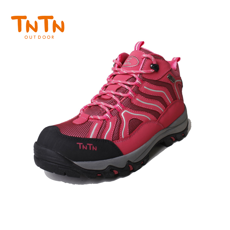 Hiking Shoes Waterproof Cowleather Womens Trekking Climbing Trail Athletic Sports Mountain 100% High Quality Leisure Walking