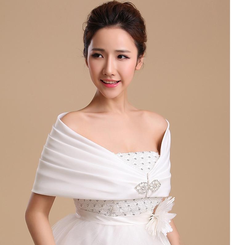 White Wedding Dress Jacket: Red/White Satin Bolero Bridal Wedding Wrap Shawl Bridal