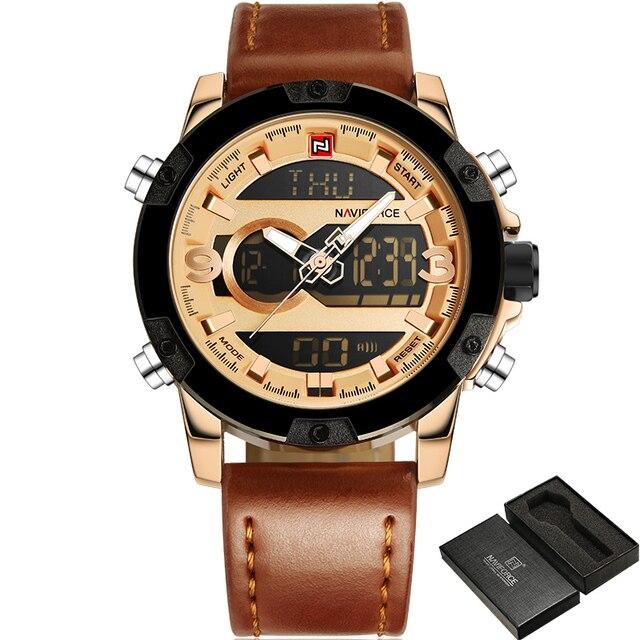 Top Luxury Brand NAVIFORCE Men Sport Watches Men's Quartz LED Analog Clock Man Military Waterproof Wrist Watch relogio masculino