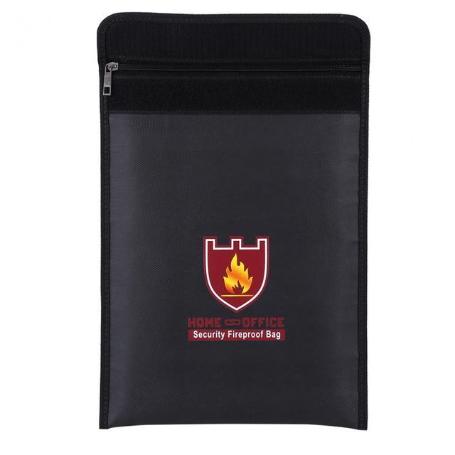 Sac Double face ignifuge 1pc, pochette résistante au feu pour batterie LiPo, sac de sécurité Portable documents dargent multifonctionnel