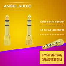"Free Shipping 3PCS / LOT 1/4"" 6.3 mm Stereo Male Jack Plug to 1/8 "" 3.5 mm TRS Female Audio Converter Adapter Downstep Connector"