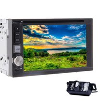 In Dash Car Radio DVD Video Player 6.2 Inch headunit for HD Double 2DIN Car Stereo Bluetooth MP3 MP4 Player + Rear Camera
