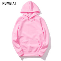 RUMEIAI 2018 New Pink Black Gray Red HOODIE Hip Hop Street Wear Sweatshirts Skateboard Men Woman