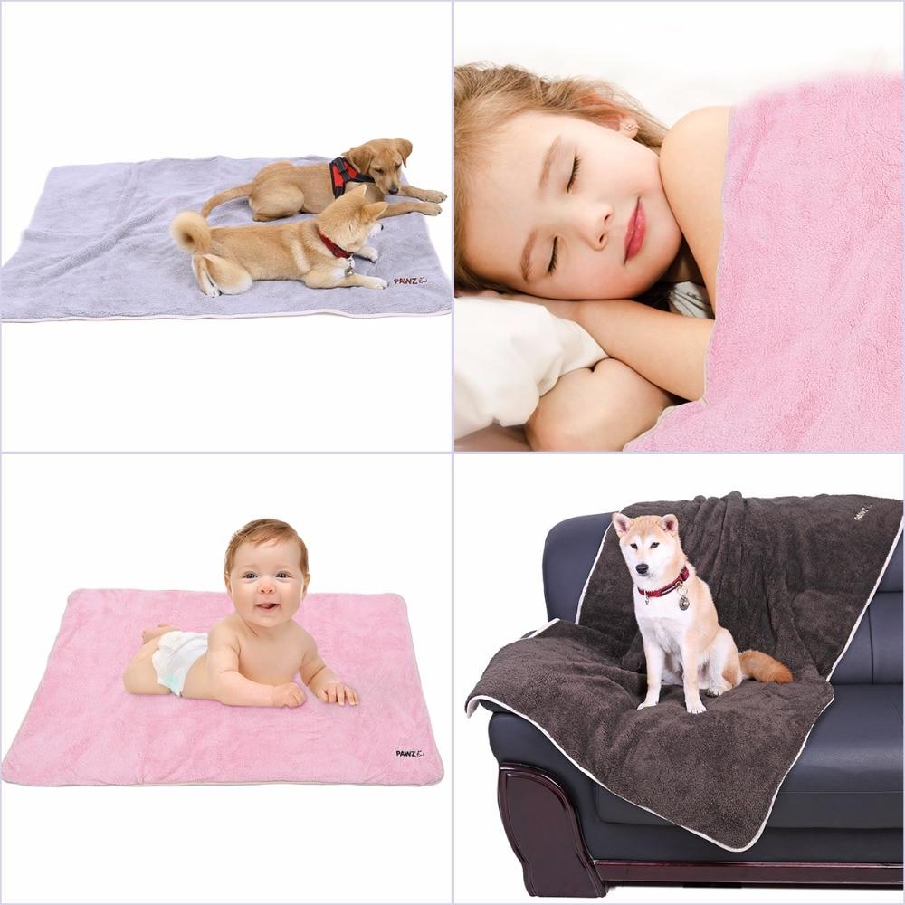 Super Soft Blanket For Dog Cat Solid Blanket For Pet Shu Velveteen Mat for Medium Big Pet 4 Colors Thick Great Quality 2 Sizes