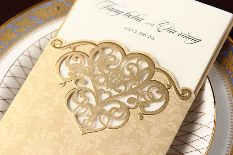 Online Shop 1 Set Sample Wedding Invitations Cards With Laser-Cut