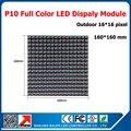 Открытый из светодиодов P10 dip-rgb 16 * 16 пикселей высокой четкости модуль из светодиодов видео панели 1/4 сканирования из светодиодов экран рекламы