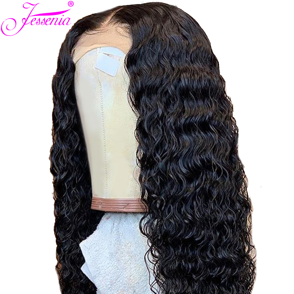Brazilian Deep Wave13*4  Lace Wigs Remy Hair 150% Density Pre-Plucked Natural Hairline With Baby Hair Human Hair Wigs