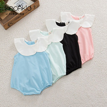 2016 ins Baby Rompers Girls Clothes sleeveless cute Newborn girl Romper Jumpsuit Outfit infant clothing cotton cloth boy 0-24M