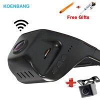 KOENBANG Car DVR Dash Camera Video Recorder Dashcam WIFI Novatek 96655 Dual Camera + Rearview Camera