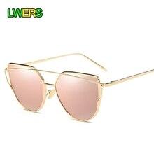 [LWERS] Brand Sunglasses Women Cat Eye Designer Copper Frame Hot Photochromic Sun Glasses Rose Gold Frame Glasses for Women