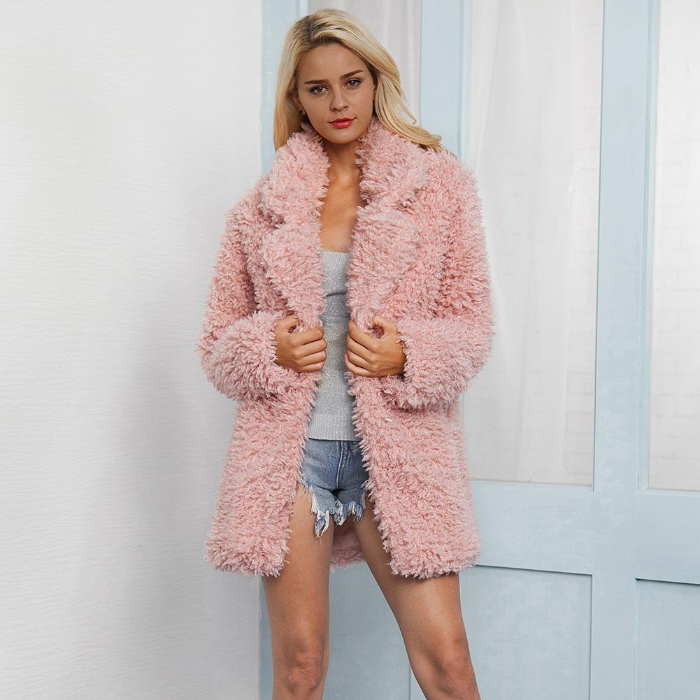 Rose 2018 mode fausse fourrure manteau hiver femmes décontracté Faux renard fourrure gilet hiver veste femmes grande taille Casaco Feminino 3XL