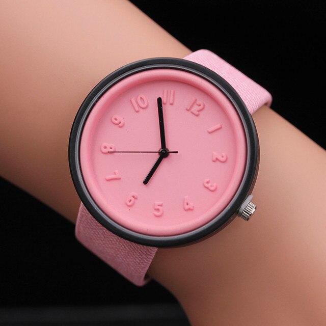 Splendid Fashion Ladies Women Bracelet Unisex Women Men Hours Simple Number Watches Quartz Canvas Belt Wrist Watch