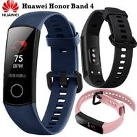 Newest Fitness Bracelet Original Huawei Honor Band 4 Smart Bracelet Amoled Color 0.95Touchscreen Swim Posture Detect Sleep Snap