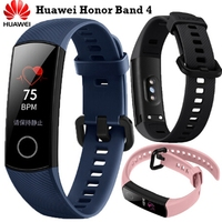 Newest Fitness Bracelet Original Huawei Honor Band 4 Smart Bracelet Amoled Color 0.95Touchscreen Swim Posture Detect Sleep Snap