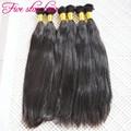 In stock Natural Straight Hair Bulk 3pcs/lot Unprocessed 8A grade virgin human Hair Bulk no weft 100% Brazilian hair