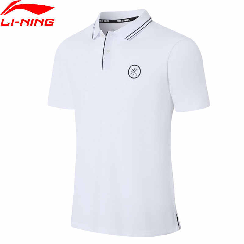 Li-Ning Men Wade Series Polo Shirt Breathable 96% Cotton 4% Spandex Turn-down Collar LiNing Sports T-shirts Tops APLP067 MTP499