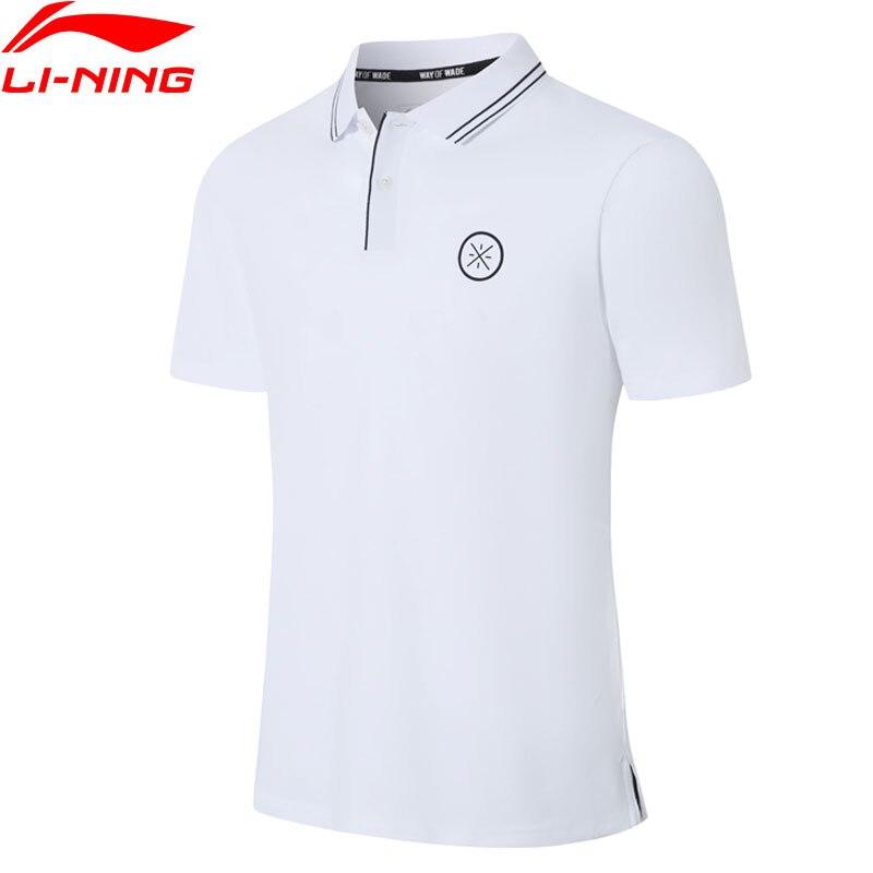 Li-Ning Men Wade Polo Shirt Breathable 96% Cotton 4% Spandex Turn-down Collar LiNing Li Ning Sports T-shirts Tops APLP067 MTP499