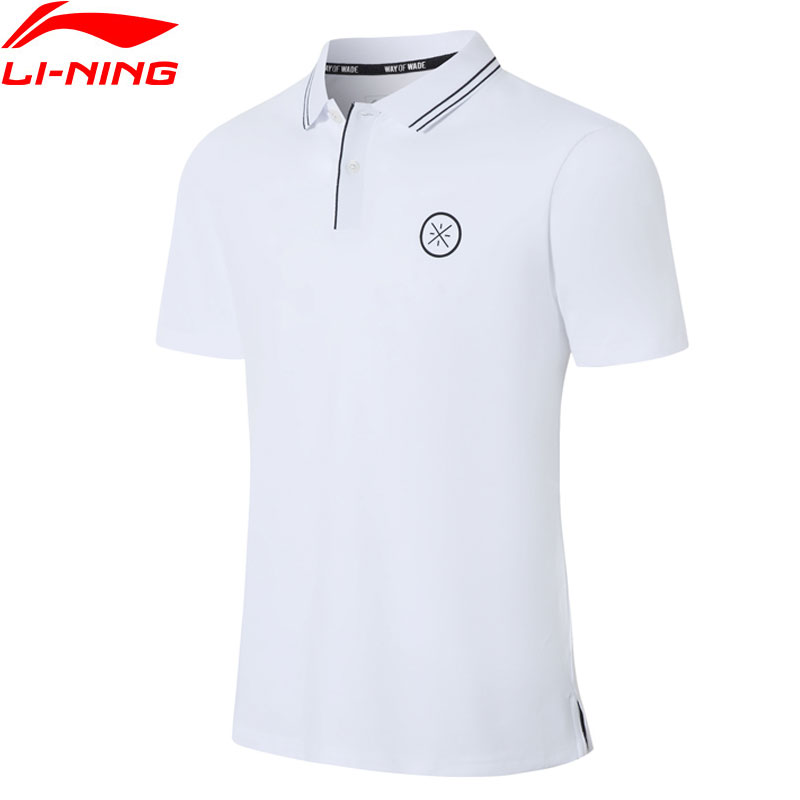 Li-Ning Men Wade Series Polo Shirt Breathable 96% Cotton 4% Spandex Turn-down Collar LiNing Sports T-shirts Tops APLP067 MTP499