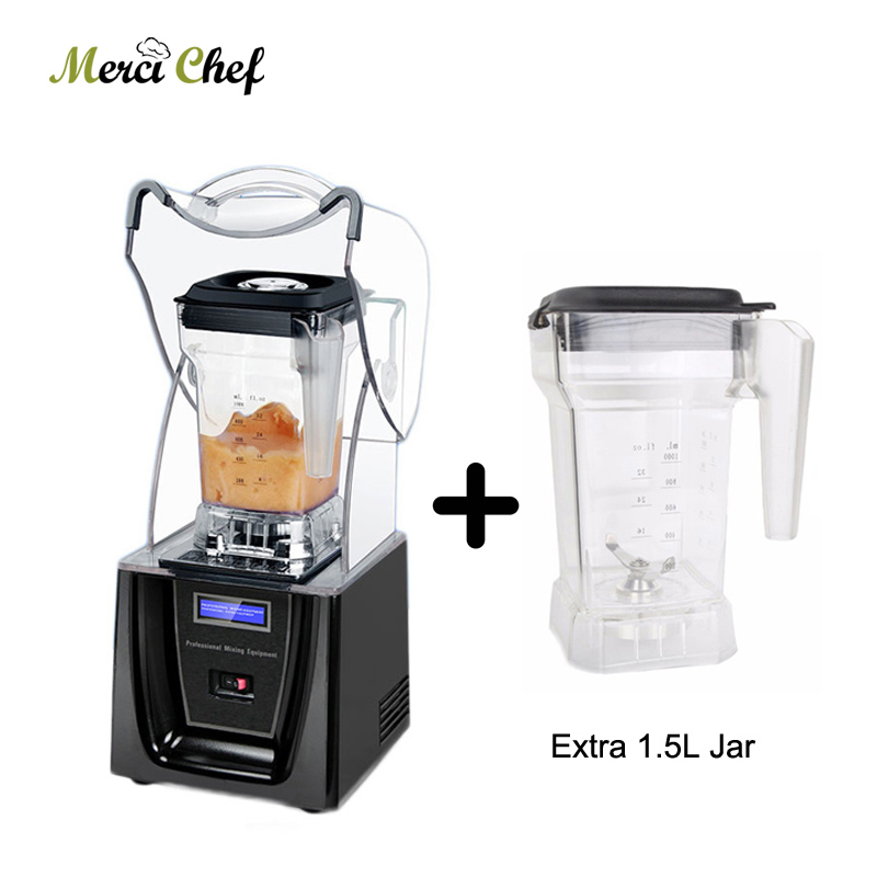 ITOP Commercial 1.5L Bpa Free Ice Blender Professional Power Blender Mixer Juicer Food Processor With One More Blender Jar Cup