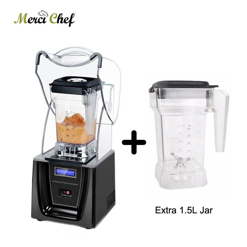 ITOP Commercial 1.5L sans Bpa mélangeur de glace professionnel mélangeur de puissance mélangeur presse-agrumes robot culinaire avec une tasse de pot de mélangeur de plus