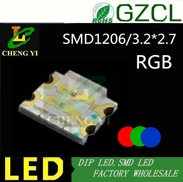 Search For Flights Rgb 3.2*2.7mm Chip Led Tricolor 1206 Smd Led Diode 0.06w 20ma rgb Smd Light Diode Low Price