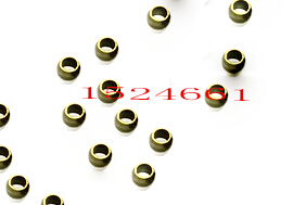 3mm 500pcs Crimp End Finding Diy Spacer Beads *clip Tube Cap Cord Bronze *