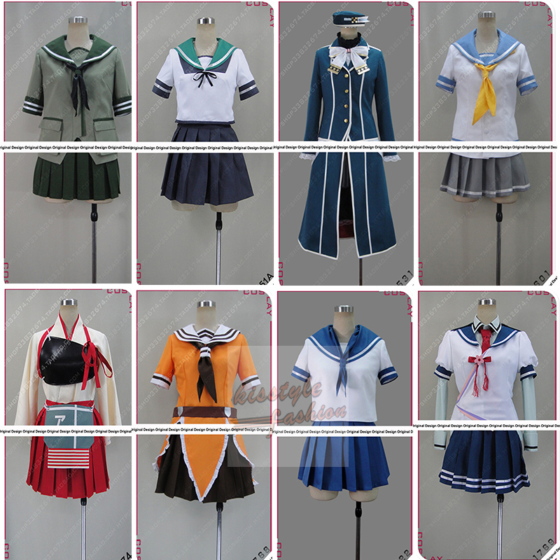 Kantai Collection KanColle Akagi Kaga Admiral Kantai Hibiki Female and Male Characters Cosplay Costume,Customized Accepted