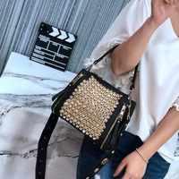 Niet frauen taschen 2019 neue mode trend diamant handtaschen Koreanische version freizeit persönlichkeit temperament abendessen taschen