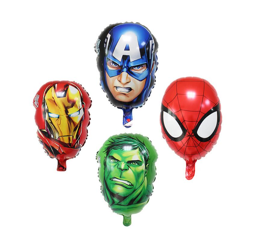 16 inch The Avengers foil balloons super hero helium globos hulk Captain America superman ballon for boy's birthday supplies