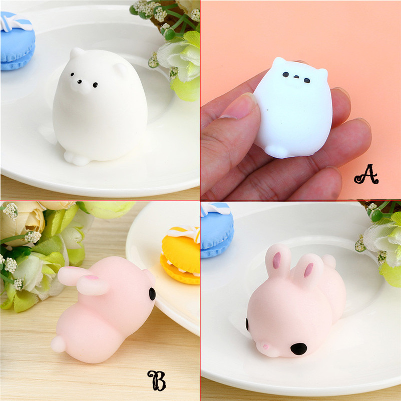 1pc Cute Mochi Squishy Cat Squeeze Healing Fun Kids Kawaii Toy Stress Reliever Decor Cute Funny Kids Gift Toy A1