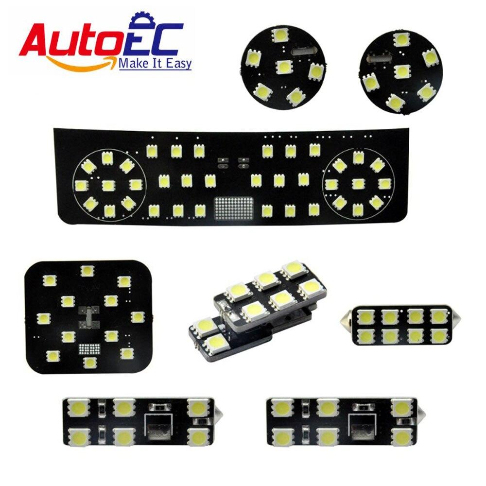 AutoEC 8pcs/set Car interior festoon dome panel light  Dome&Map Reading Lights Lamp kit for VW Glof GTI mk5 mk6 mk7 #LDK01
