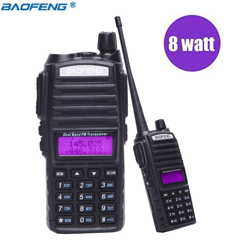 Baofeng UV-82 10 KM Longue Portée 8 W Puissant Talkie Walkie Portable CB vhf/uhf 2 way Radio Émetteur-Récepteur Amador mise à niveau de BF UV 82