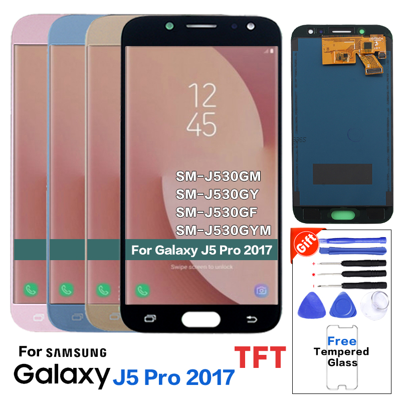 Für <font><b>Samsung</b></font> <font><b>Galaxy</b></font> J5 2017 <font><b>J530</b></font> <font><b>LCD</b></font> Display Touchscreen Digitizer Montage J5 2017 <font><b>J530</b></font> Ersatz Display <font><b>LCD</b></font> Screen + werkzeug image