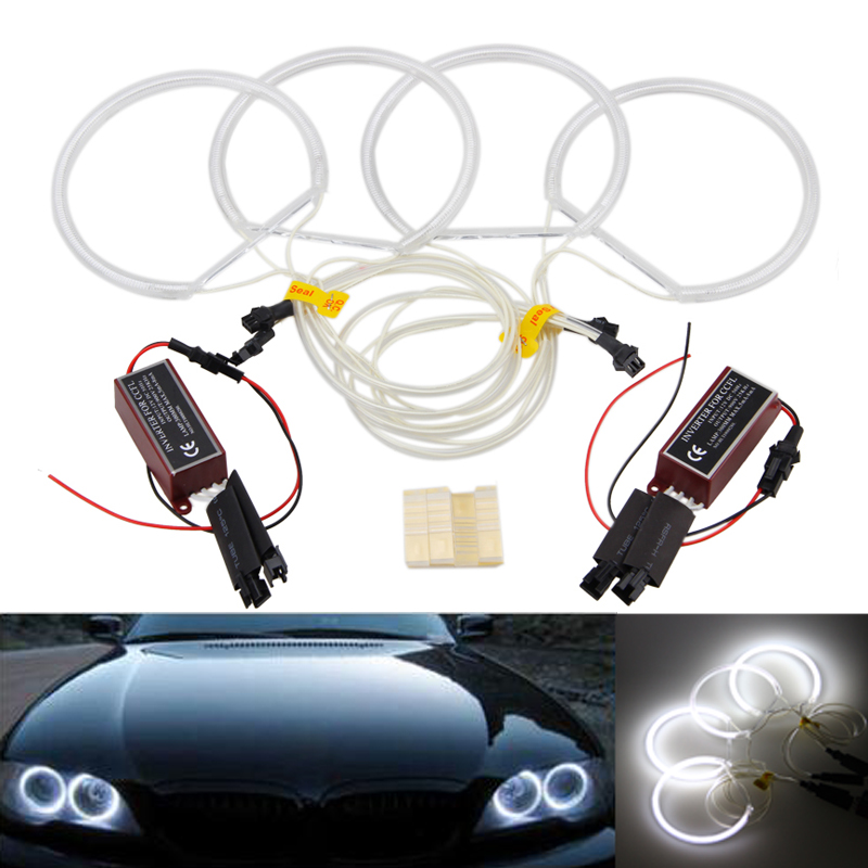 4pcs CCFL Halo Rings Angel Eyes Light For BMW E36 E38 E39 E46 3 5 7 Series White  цена