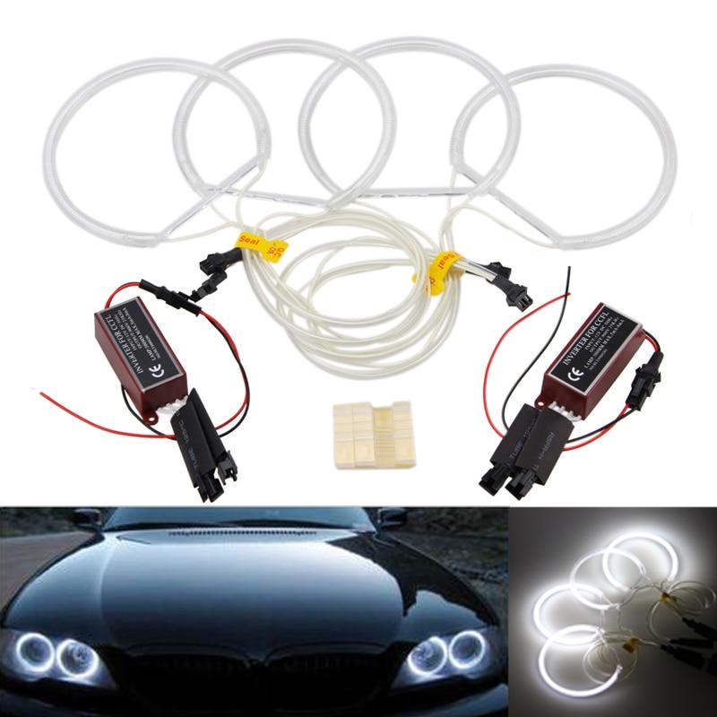 4pcs CCFL Halo Rings Angel Eyes Light For BMW E36 E38 E39 E46 3 5 7 Series White  цена