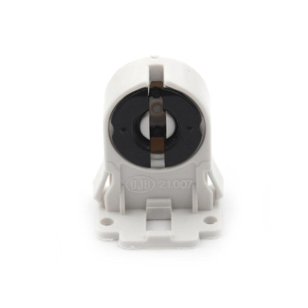 Newest T8 Fluorescent Light Socket Lamp Base AC100-250V Plastic Holder Suitable ForT8 G13 LED Bracket Lamp