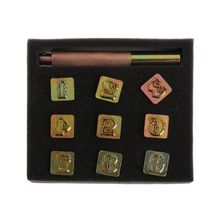9pcs/set Steel Number Leather DIY Printing Punch Stamper Set Metal Punching Hand Tools Craft 13mm