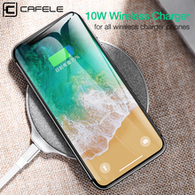 hot deal buy cafele fast wireless charger for iphone x 8 plus samsung s9 s8 s7 s6 edge luxury universal qi wireless charging for iphone x 8