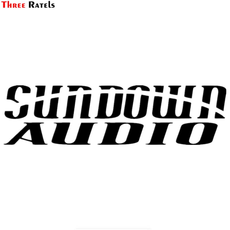 Three Ratels TZ-1369# 10*37.3cm Sundown Audio Car Stickers Funny Car Sticker Auto Decals