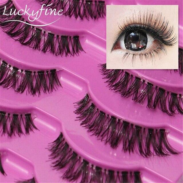 Natural 5 Par Grosso Longo Entrecruzamento Cílios Postiços Cílios Falsos Eye Lashes Maquiagem Beleza Frete Grátis