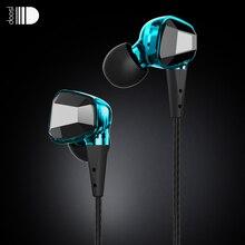 Doosl Hi-Fiหูฟังสเตอริโอเพลงหูฟังเสียงแยกคริสตัลออกแบบหูฟังกีฬาหูฟังสำหรับโทรศัพท์มือถือ