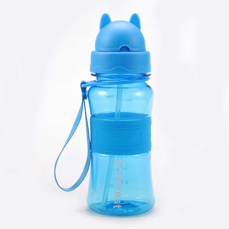 300ml My ดื่มน้ำขวดฟางสำหรับโรงเรียนเด็กเด็กน่ารักพลาสติกแบบพกพากีฬา Tumbler Leak PROOF