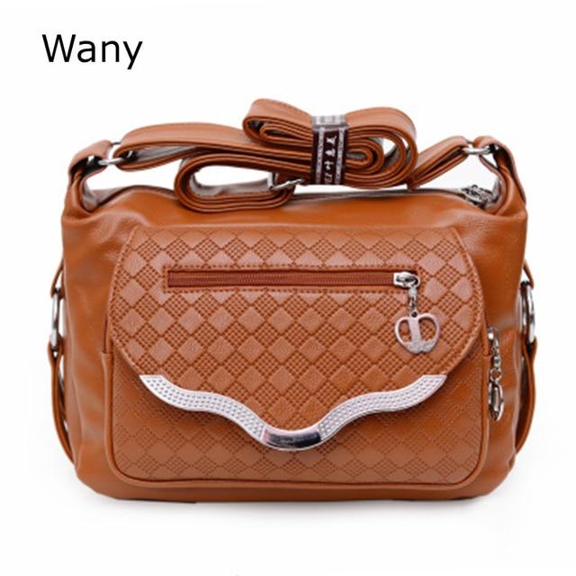 New 2017 Women Leather Handbag Mid Age Models Shoulder Bag Messenger Bags Crossbody Mom Handbags